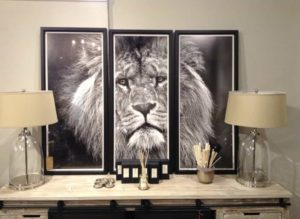 King of the Jungle Tryptich Wall Art